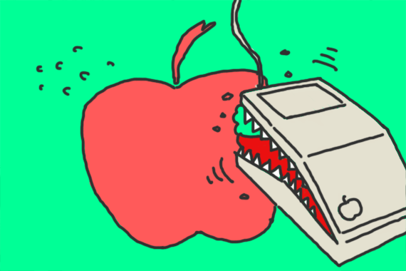 リンゴを齧ったのはネズミ?